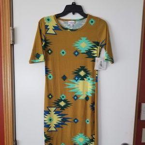New LulaRoe Julia Dress Beautif Aztec Print Sz XXS